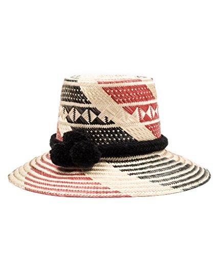 Handmade Wayuu Straw Hat - Sun Hat with Pom Poms