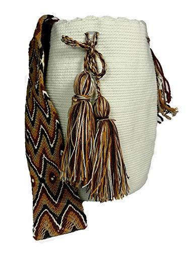 Mochila Wayuu básica color blanco