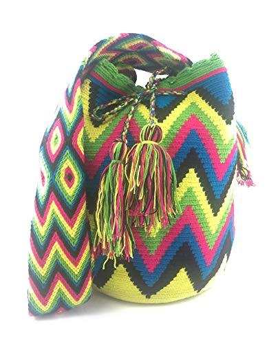 Bolsos Colombianos Wayuu multicolor 100% algodón