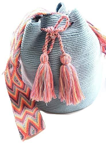 Wayuu Bags para mujer tejida a mano, Multicolor, L