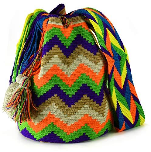 Bolso Wayuu original tejido a mano