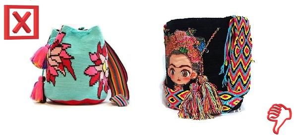 dibujos de mochilas wayuu falsos