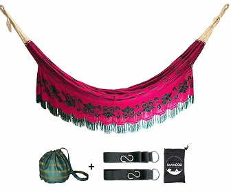 Hamaca wayuu con kit de soporte