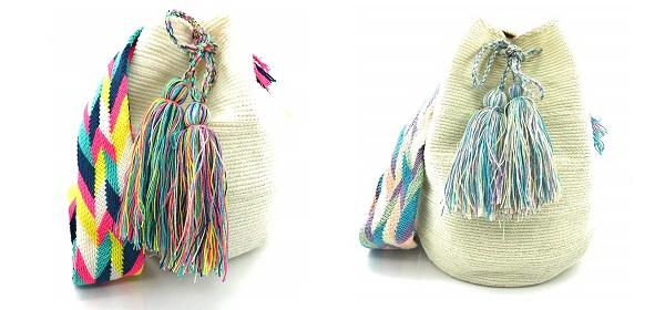 Mochilas Wayuu blancas