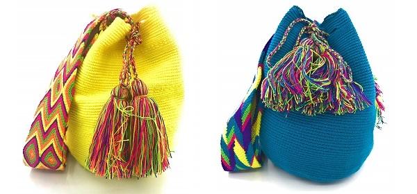 Mochilas Wayuu de un color