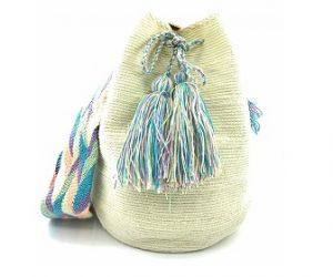 Mochilas Wayuu blanca
