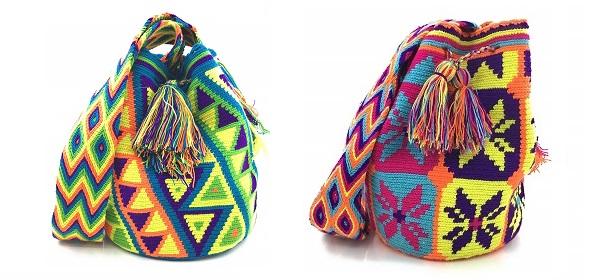 Mochilas Wayuu multicolores