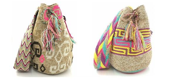 Mochilas Wayuu colores tierra