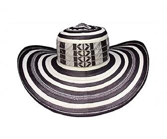 Sombrero colombiano volteado