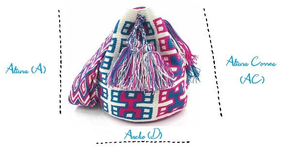 Tamaño ideal para comprar una Mochila Wayuu