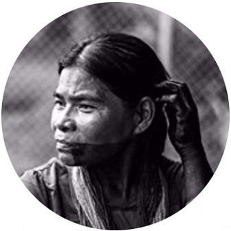 Mujer de la tribu indígena Wounaan