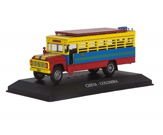 Bus de Colombia Artesanal hecho a Mano