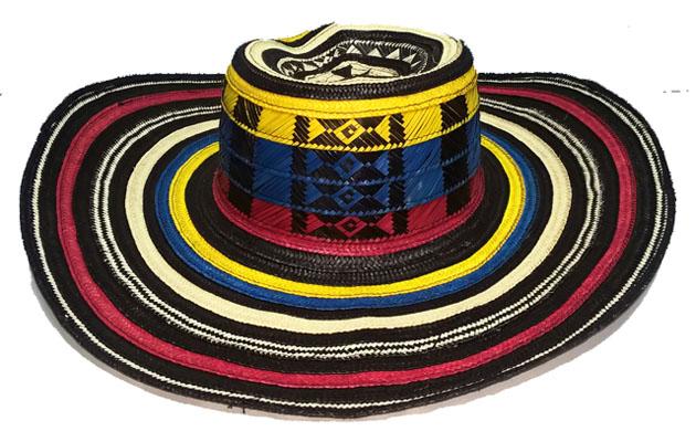 colores sombreros volteados